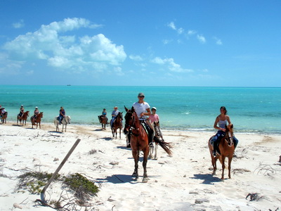 You can trot and canter along a beautiful stretch of Long Bay Beach
