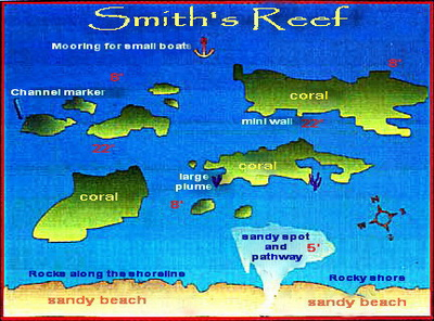 Here's a map of the area at Smith's Reef for all those that love to snorkel