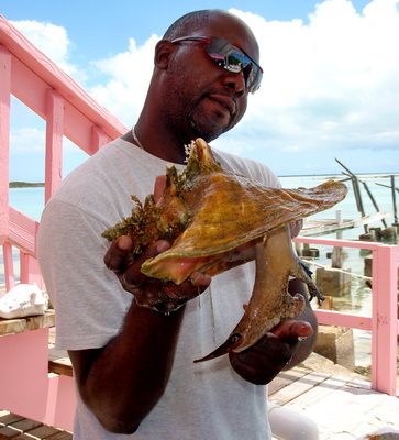 Danver introduces us to Sally the resident female conch