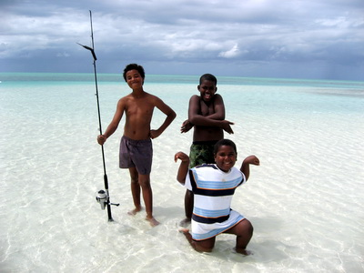 These great kids hammed it up for the camera in the shallows of the sandbar.