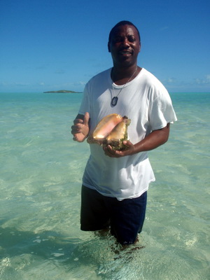 "A ""medium sized"" conch he told me......I thought it looked pretty large."