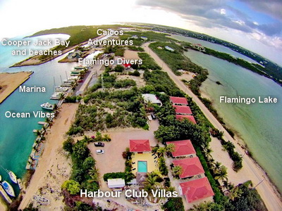 A kite cam view of our six rental villas. Thank you to our neighbors Polly and Byron for this sensational photo.